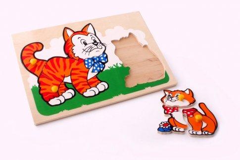 Кот и котенок (30х21 см 9 дет.)