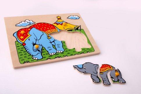 Слоны (30х21 см 9 дет.)