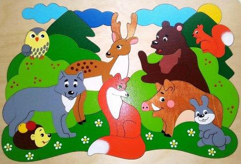 Лесные звери (30х21 см, 40 дет.)