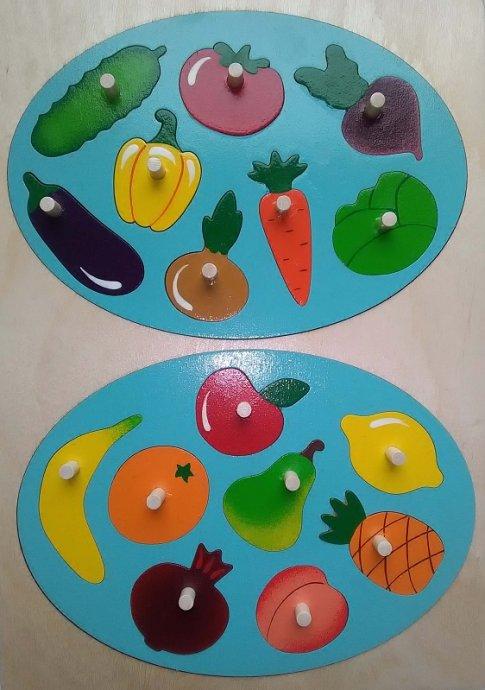 Фрукты-Овощи (21х30 см, 16 дет.)