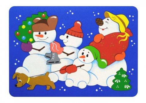 Снеговики (21х15 см 21 дет.)