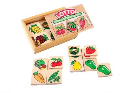 """Лото """"Овощи, фрукты, ягоды"""" (15х13 см 4 панели, 24 карточки)"""