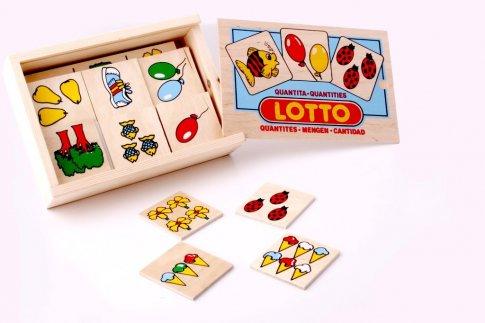 """Лото """"Количество"""" (13х12 см 4 панели, 24 карточки)"""