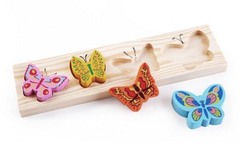 """Вкладыш """"Бабочки"""" (5 дет. 26x12 см)"""