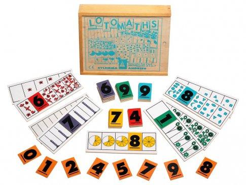 """Домино """"Математика"""" (21х8 см 12 панелей, 60 карточек)"""