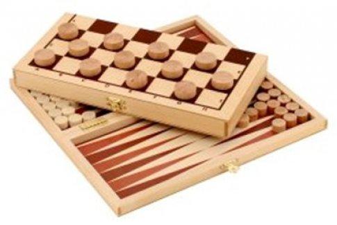 Набор игр 2 в 1: шашки и нарды