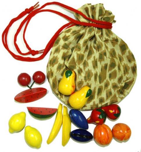 Волшебный мешочек фрукты-ягоды цветные (8 пар 15х19 см)