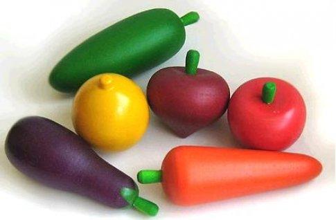 Овощи. Набор в пакете. (6 дет. 18х15 см)