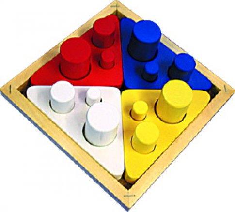 Цилиндры втыкалки Цвет, Размер, Диаметр (22х22х8 см)