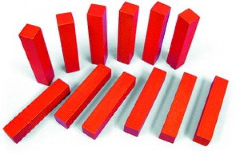 Счетные палочки 12 шт. красные