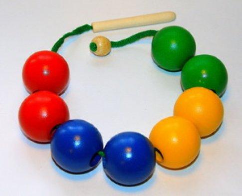 Бусы шары цветные (8 дет.)