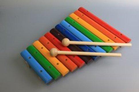 Ксилофон деревянный 12 тонов окрашенный