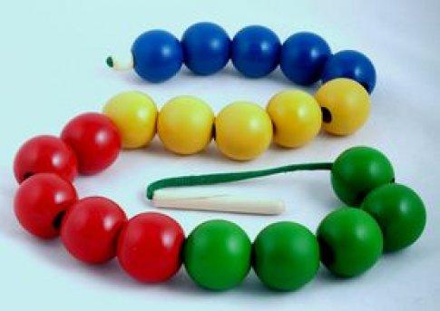 Бусы шары цветные (20 дет.)