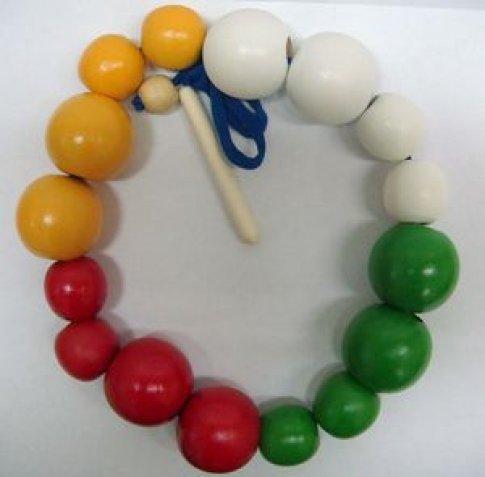 Бусы шары цветные (большие и маленькие) (16 дет.)