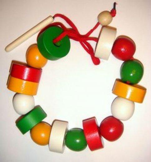 Бусы геометрические цветные (шарики и шайбочки)
