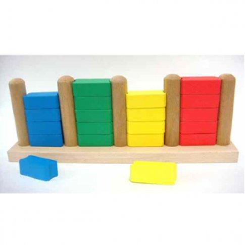 Пирамидка счет до 20 цветная