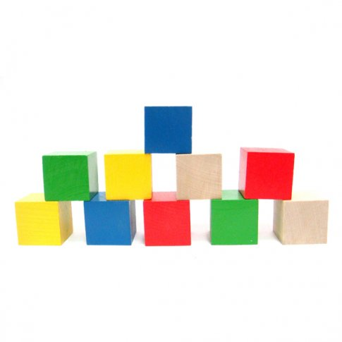 Кубики цветные (10 шт.)