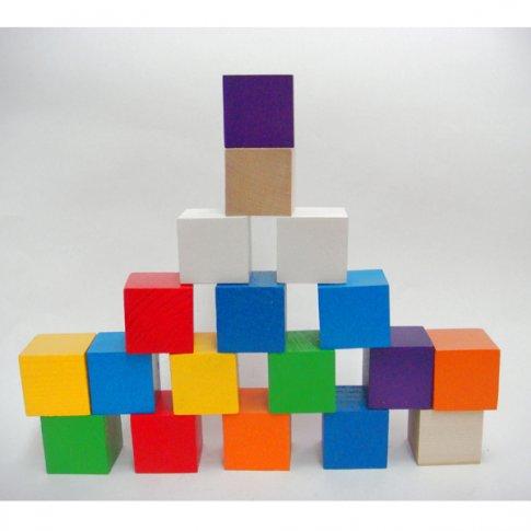 Кубики цветные (18 шт.)