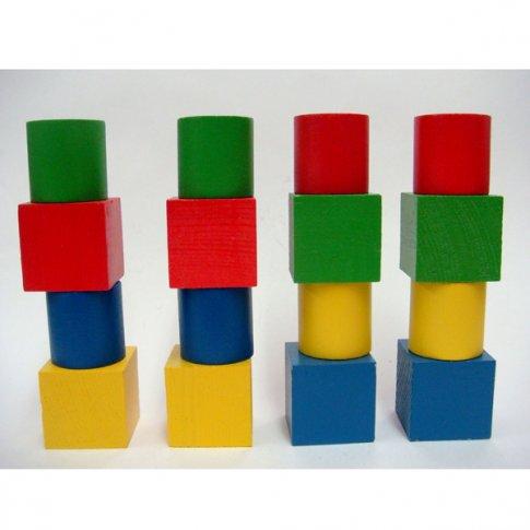 Набор геометрических фигур цветной (16 дет.)