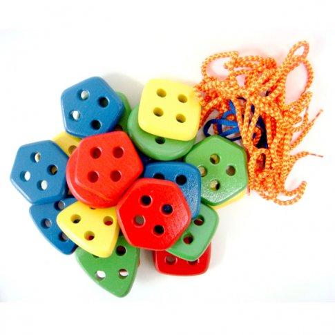 Набор геометрических пуговиц цвет и форма (20 дет.)