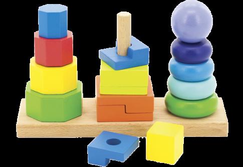 Пирамидки 3 в 1 (22х7,5х15 см)