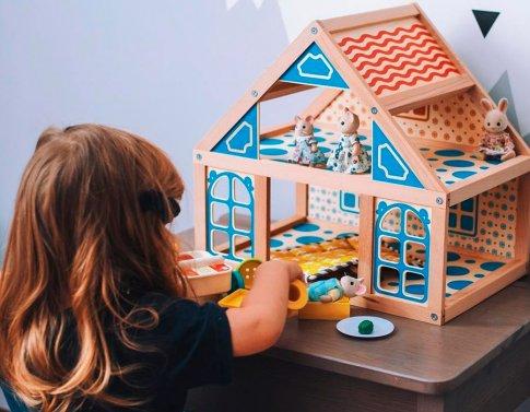 Кукольный дом - 2 этажа (56х22х40 см)