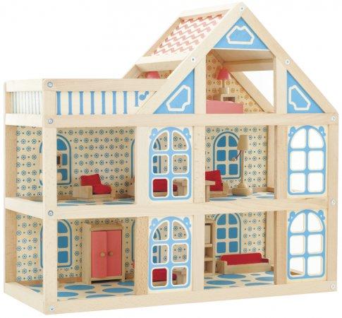Кукольный дом - 3 этажа (55х51х24 см)
