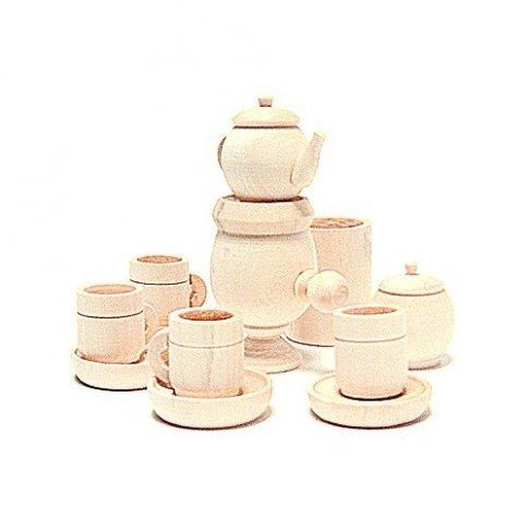 Чайный сервиз с самоваром (13х15 см)