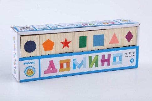 """Домино """"Геометрические фигуры"""" (28 шт.)"""