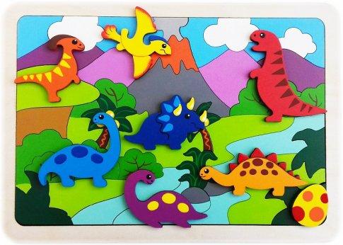 Динозаврики (47 дет., 30х21 см)