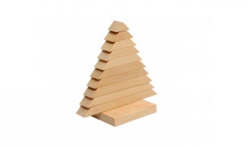 Пирамидка Елочка (11 дет., 10х6х11 см)