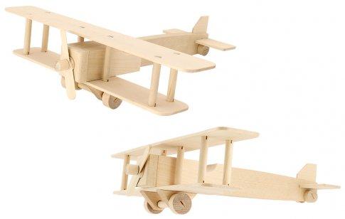 Самолет - биплан (27 дет. 27х7х3 см)