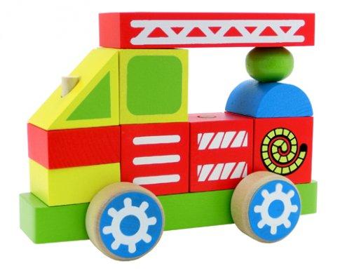 Пожарная машина (11 дет., 13.5х19х8.5 см)