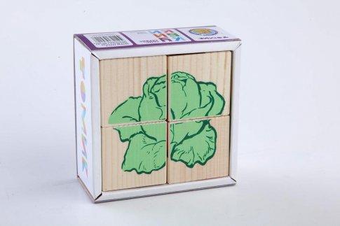 """Кубики """"Овощи"""" (4 шт.)"""