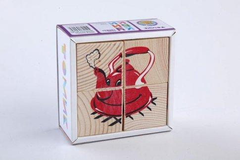 """Кубики """"Посуда"""" (4 шт.)"""