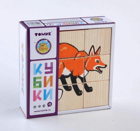 """Кубики """"Животные леса"""" (9 шт.)"""