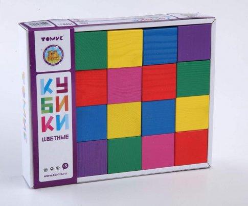 Кубики цветные (20 дет.)