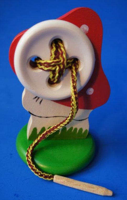 Пуговица на подставке Мухомор