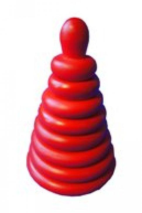 Пирамидка Красная (8 дет.)