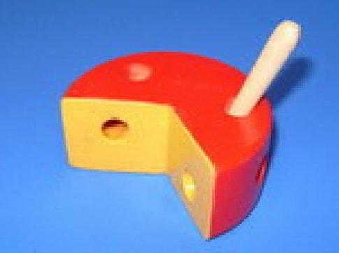 Сыр круглый цветной шнуровка (12х12 см)