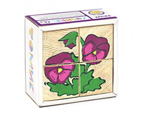"""Кубики """"Цветочки"""" (4 шт.)"""